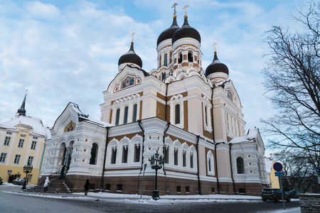 nevsky: Alexander Nevsky Cathedral, an orthodox cathedral in the Tallinn Old Town, Estonia.