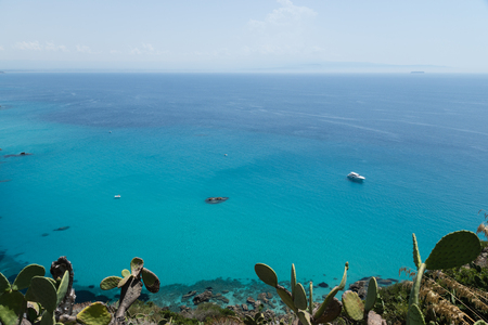 Crystal clear sea near the town of Tropea region Calabria - Italy Stock Photo