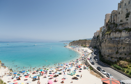 Ancient Italian town of Tropea in Calabria, Italy