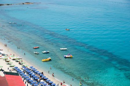 Magic beach in Tropea, Calabria, Italy Stock Photo