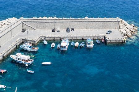 Boats in Scilla, Calabria, Italy, Europe Stock Photo