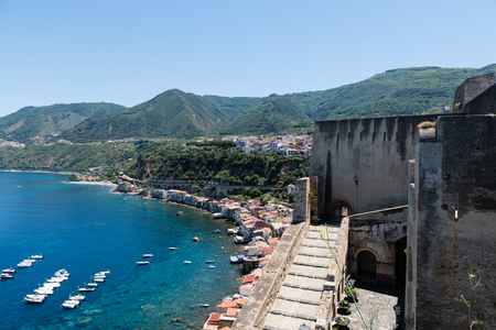 Fishing village in Calabria, Scilla, Southern Italy Stock Photo