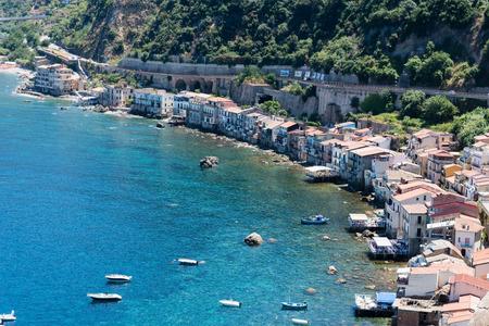 Fishing village in calabria, Scilla, Italy Stock Photo