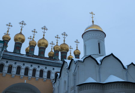 Church of the deposition of the Robe on Cathedral square, Moscow Kremlin, Russia