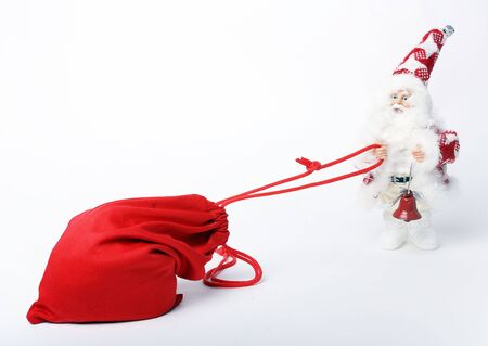 Bag With Gifts And Santa photo