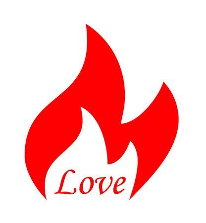 Flame Love Stock Photo - 4295774