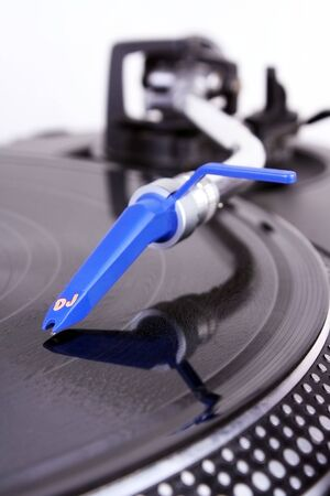 shure: Turntable with needle Stock Photo