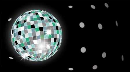 Discoball in club photo