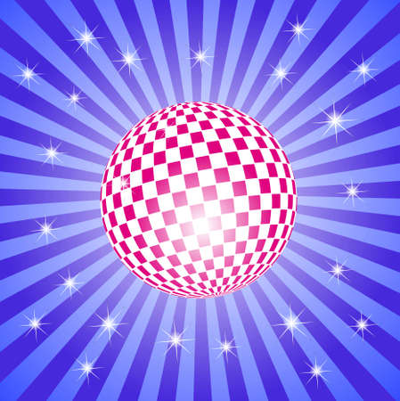 discoball: Discoball on stars background