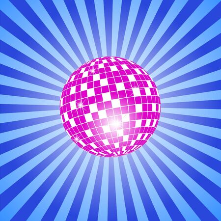Discoball with stars