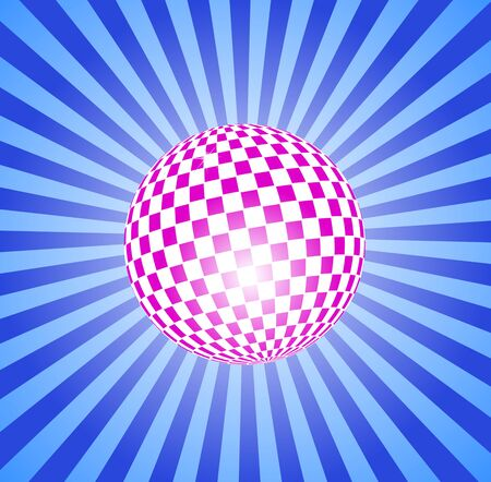discoball: Discoball on stripes