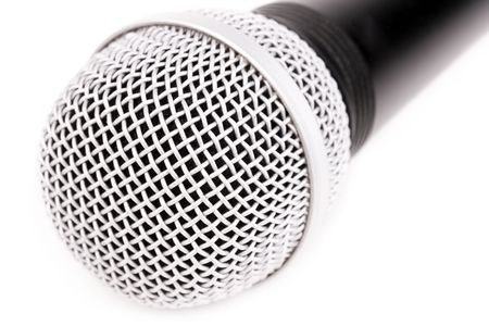 amplify: Isolated microphone Stock Photo