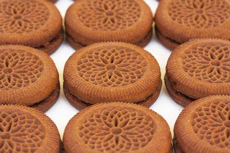 Aligned cookies photo