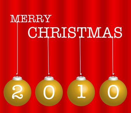 christmasball: Merry christmas background with balls