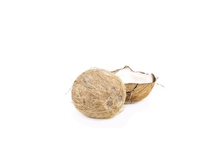 Whole and half dominican coconut Stock Photo - 5850411