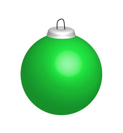 christmasball: Illustration of green christmas ball