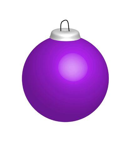 christmasball: Illustration of violet  Xmas ball Stock Photo