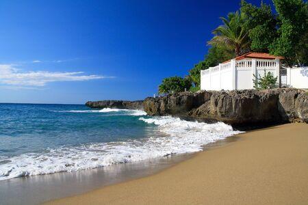 Terrace on beach photo