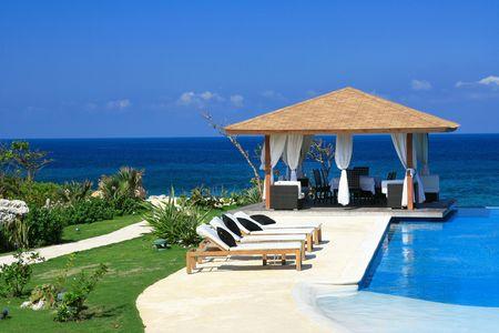Caribbean summerhouse photo
