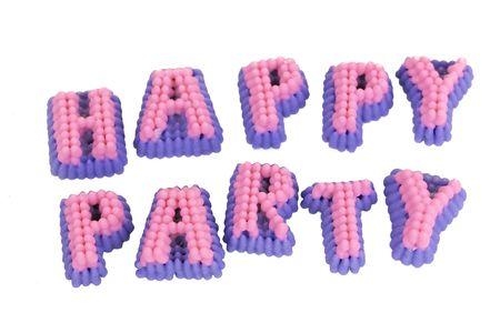 Happy party words Stock Photo - 6682666