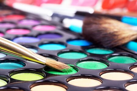 eyemakeup: Different professional make-up tools