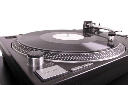 giradisco: Giradischi con dj rullini a verbale, chiuso a tabella nero
