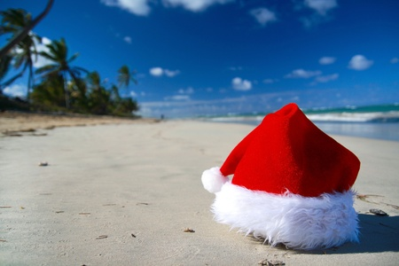 Christmas beach Stock Photo