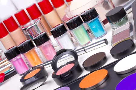Professional make-up tools, closed-up  Stock Photo