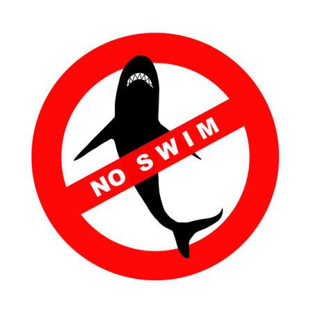 Sign no swim, illustration illustration