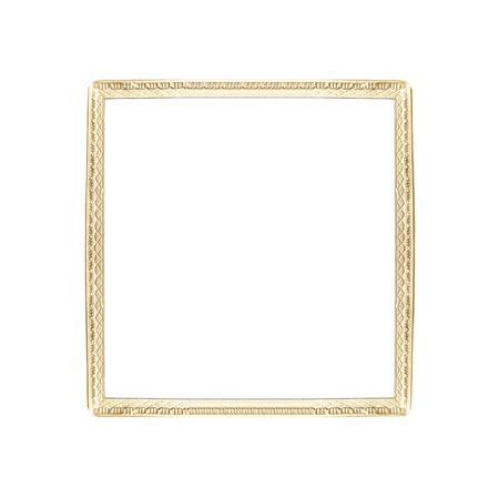 Thin golden frame isolated on white, closed-up photo