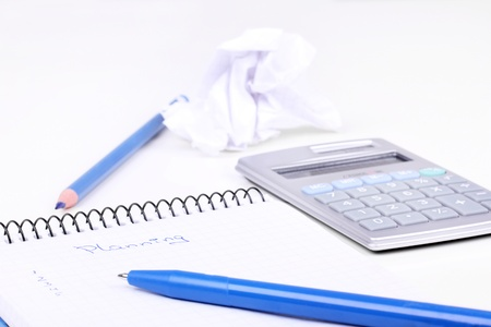 Office tools and creasy paper Stock Photo - 8861484