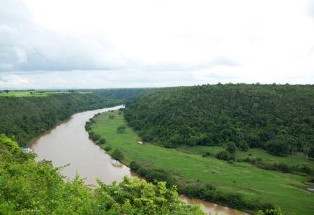 dominican republic: Tropical river Chavon, Dominican Republic