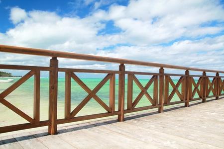 Wooden dock on caribbean sea Stock Photo - 8861559