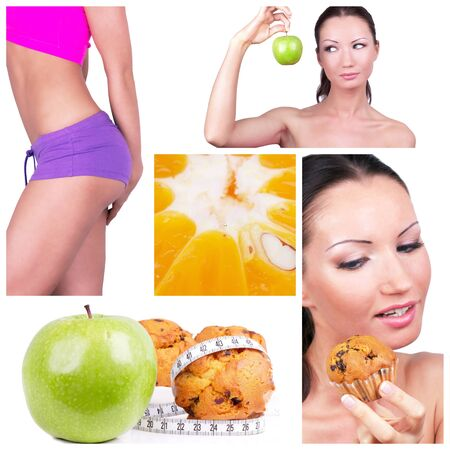 Diet choice collage. Sport concept Stock Photo - 8882124