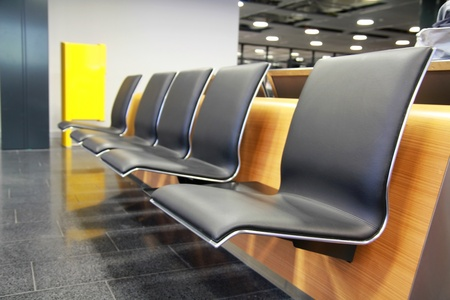 Empty seats at the airport in waiting area Stock Photo - 9180774