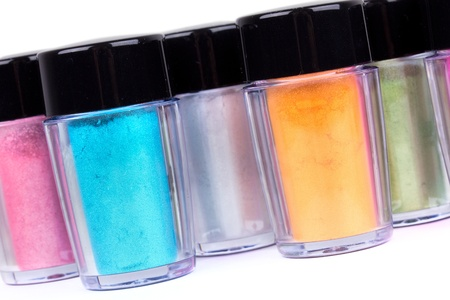 Tubes with professional make-up pigment, closeup Stock Photo - 9180828
