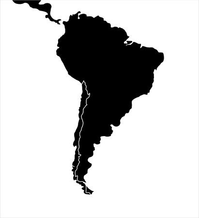 Venezuela flag: Mapa de Am�rica del Sur, ilustraci�n