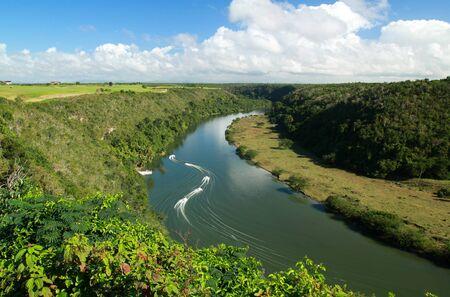 Tropical river Chavon , Dominican Republic photo