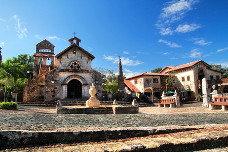 Ancient village Altos de Chavon Stock Photo