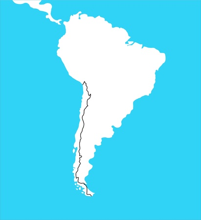 South america map, illustration  illustration