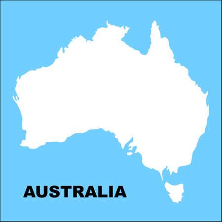 Australia map, illustration Stock Illustration - 9462439