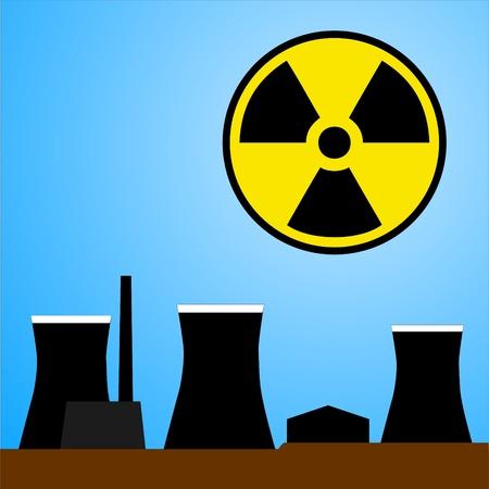 nuke plant: Estaci�n de energ�a nuclear, ilustraci�n