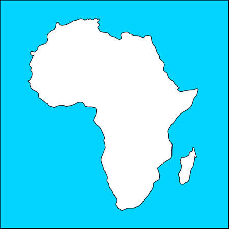 Africa map, illustration illustration