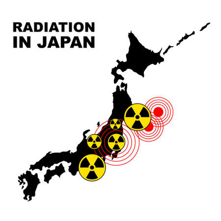 Radiation in Japan, illustration Stock Illustration - 9462461