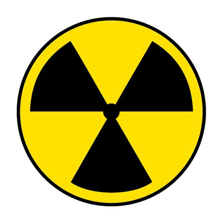 abbildung: Radiation icon on white
