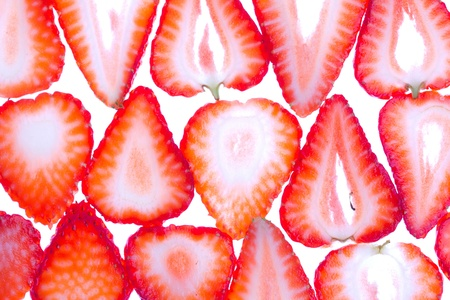 Strawberry background, closeup