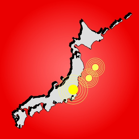 Earthquake in Japan, illustration