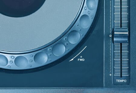Dj cd player, closeup  photo