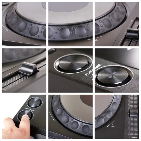 Collage with parts of dj cd player Stock Photo - 9766074