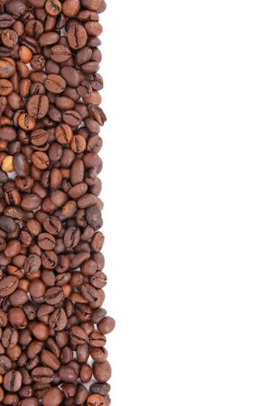 Coffee beans frame, menu background  photo